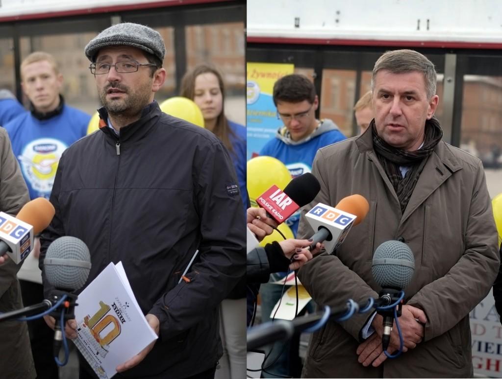 Przemek Pohrybieniuk (Danone) i Marek Borowski (Federacja Banków Żywności) Fot. Materiały prasowe